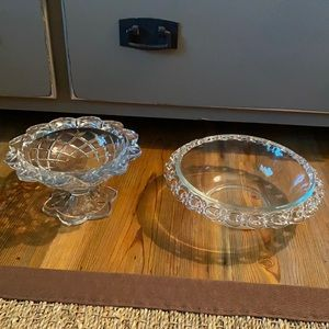 Bundle of small crystal candy dish/bowl